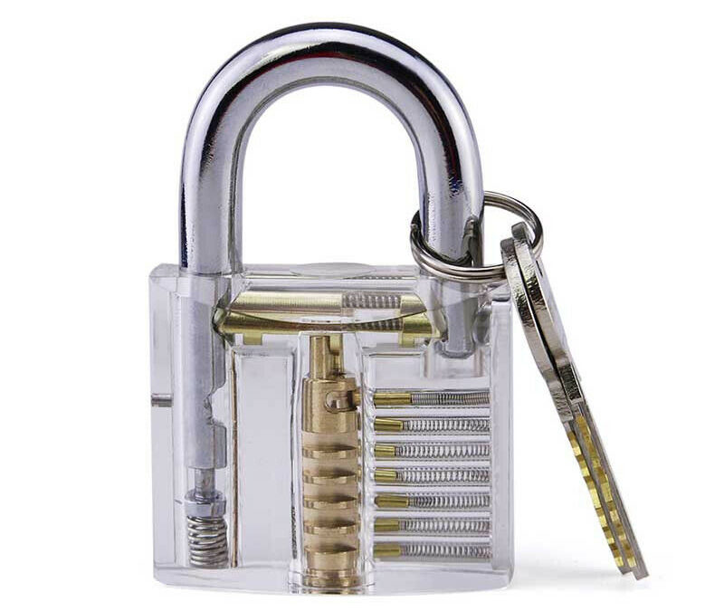 Acrylic Padlocks 6 Pins — Non-removable core